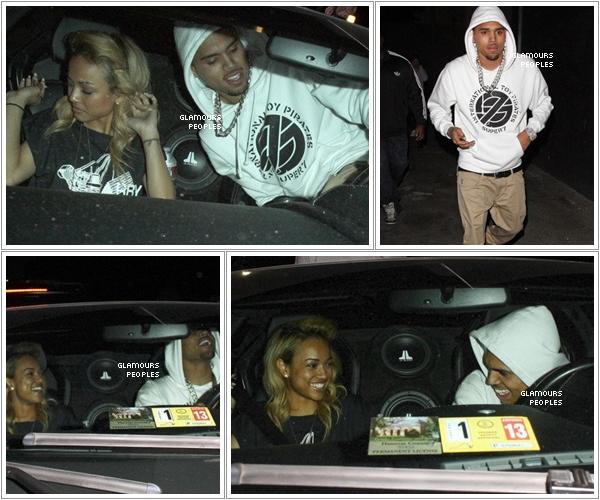 ᅠ 08 Mars 2012 : Chris Brown et sa petite amie Karrueche Tran quittent le Tru Nightclub ᅠ