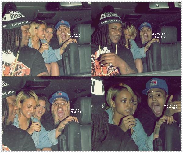 ᅠ 04 Mai 2012 : Chris Brown et sa petite amie Karrueche Tran à Las Palmas à Hollywood ᅠ