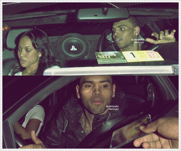 ᅠ 31 Mai 2012 : Chris Brown et sa petite amie Karrueche Tran quittaient le club Roxbury à Hollywood ᅠ