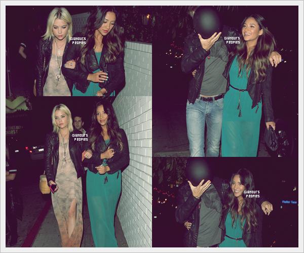 ᅠ 28 Juin 2012 : Ashley Benson et Shay Mitchell au Chateau Marmont avec leur co-star Keegan Allen à Los Angeles ᅠ