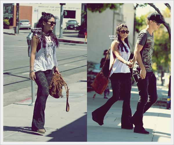 ᅠ 25 Juin 2012 : Vanessa Hudgens quittant son cours de sport et rencontre l'acteur Keegan Allen à Los Angeles ᅠ