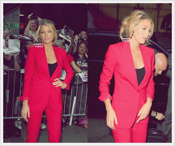 ᅠ 27 Juin 2012 : Blake Lively devant les studios du show Good Morning America pour la promo de son film Savages ᅠ