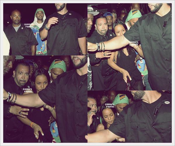 ᅠ 01 Juillet 2012 : Chris Brown au Supperclub  avec sa petite amie Karrueche Tran à Los Angeles ᅠ