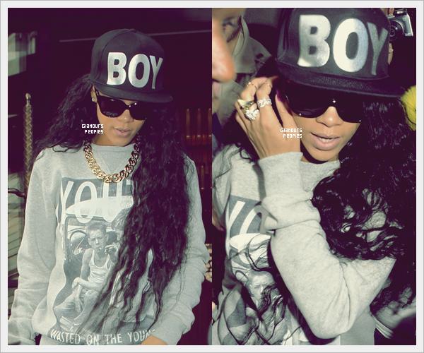 ᅠ 08 Juillet 2012 : Robyn Rihanna Fenty quittant son hôtel à Londres ᅠ