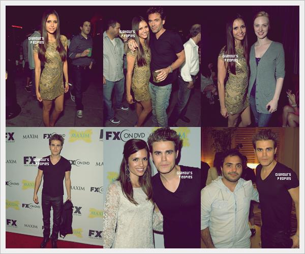 ᅠ 13 Juillet 2012 : Nina Dobrev, Paul Wesley et sa femme Torrey à la soirée  FX and Maxim à San Diego ᅠ