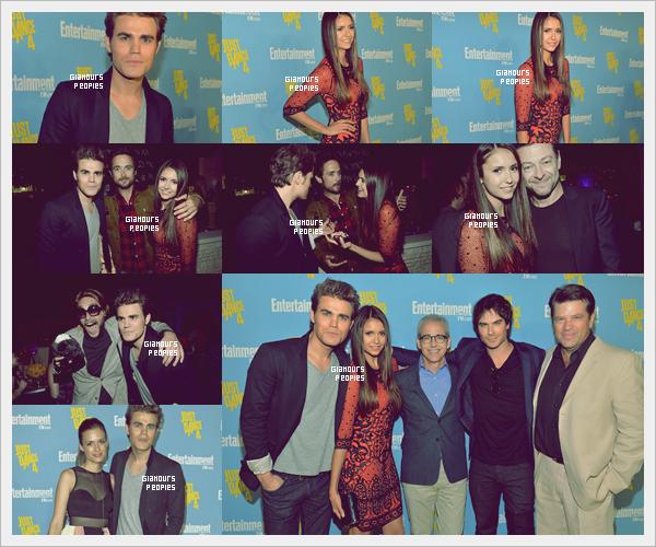 ᅠ 14 Juillet 2012 : Nina Dobrev, Paul Wesley et sa femme Torrey DeVitto à la soirée Entertainment Weekly ᅠ