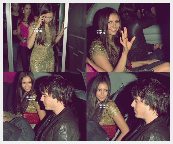ᅠ 13 Juillet 2012 : Nina Dobrev et son petit ami Ian Somerhalder quittent le Hard Rock Hotel à San Diego ᅠ