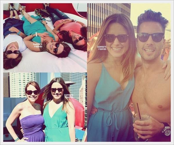 ᅠ 23 Juin 2012 : Sophia Bush à une fête la Warby Parker Pool Party avec des ami(e)s à Los Angeles ᅠ