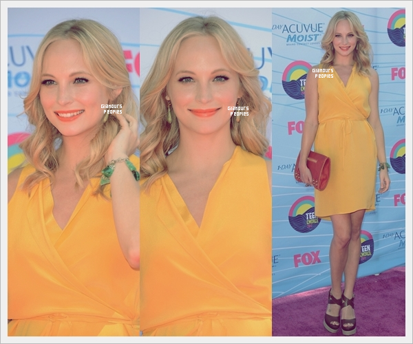 ᅠ 22 Juillet 2012 : Le cast de Vampire Diaries lors de la cérémonie des Teen Choice Awards 2012 à Los Angeles ᅠ