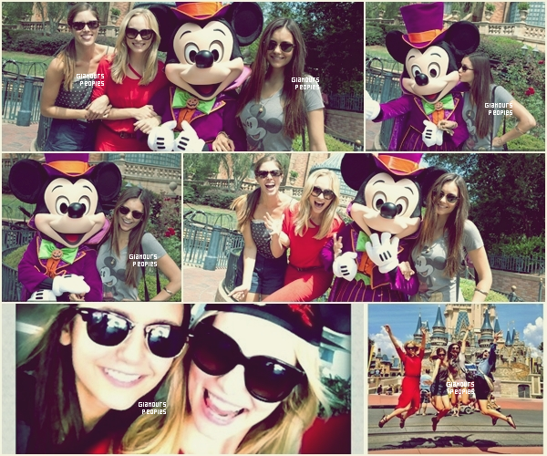 ᅠ 01 Septembre 2012 : Nina Dobrev et Candice Accola ce sont rendue à Disney World en Floride ᅠ