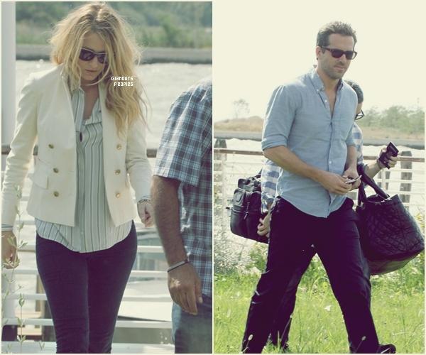 ᅠ 02 Septembre 2012 : Blake Lively et son petit ami Ryan Reynolds à l'aéroport Marco Polo en Italie ᅠ