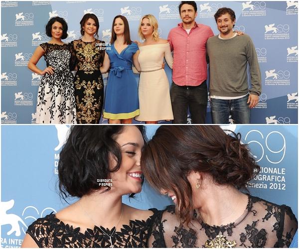 ᅠ 05 Septembre 2012 : Selena Gomez, Vanessa Hudgens et Ashley Benson pour le photocall du film Spring Breaker ᅠ