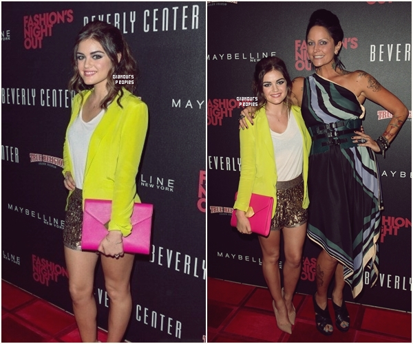 ᅠ 06 Septembre 2012 : Lucy Hale s'est rendu  la Fashion's Night au Beverly Center à Los Angeles ᅠ