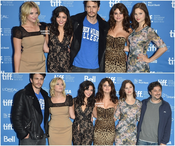 ᅠ Ashley Benson, Vanessa Hudgens et Selena Gomez lors du photocall pour le film Spring Breakers ᅠ