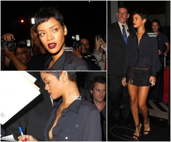 ᅠ 02 Octobre 2012 : Robyn Rihanna Fenty et son ex petit ami Chris Brown au club  Griffin  à New York ᅠ