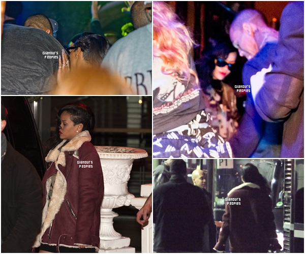 ᅠ 22 Novembre 2012 : Rihanna & son (ex?) petit ami Chris Brown au club Adagio à Berlin ᅠ