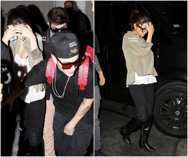 ᅠ 19 Novembre 2012 : Selena Gomez et son petit ami Justin Bieber à l'after party de la cérémonie des AMA 2012 ᅠ