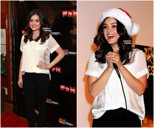 ᅠ 20 Novembre 2012 : Lucy Hale à l'évènement Power Holiday Smiles avec Duracell  ᅠ