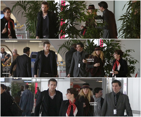 ᅠ 05 Décembre 2012 : Blake Lively et son mari Ryan Reynolds à l'aéroport Charles de Gaulle de Paris ᅠ