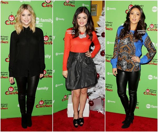 ᅠ 02 Décembre 2012 : Nos 3 jolies petites menteuses étaient à l'évènement 25 Days of Christmas par ABCFamily ᅠ