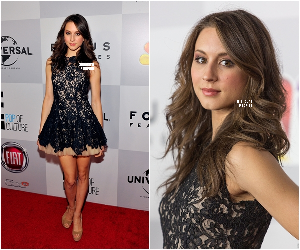 ᅠ 10 Janvier 2013 : Troian Bellisario à l'after party des Golden Globes à la soirée NBC Universal ᅠ