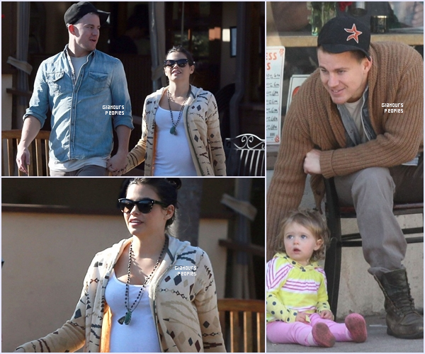 ᅠ 28 Février 2013 ; Channing Tatum et sa femme Jenna Dewan sont allaient déjeuné à Santa Barbara ᅠ