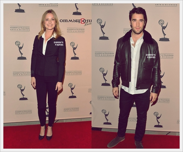 ᅠ 04 Mars 2013 : Emily Vancamp & Joshua Bowman sur le tapis rouge de l'Academy of Television Arts & Sciences ᅠ
