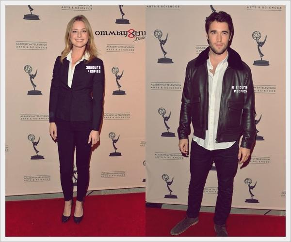 ᅠ 04 Mars 2013 : Emily Vancamp & Joshua Bowman sur le tapis rouge de l'Academy of Television Arts & Sciences ᅠ