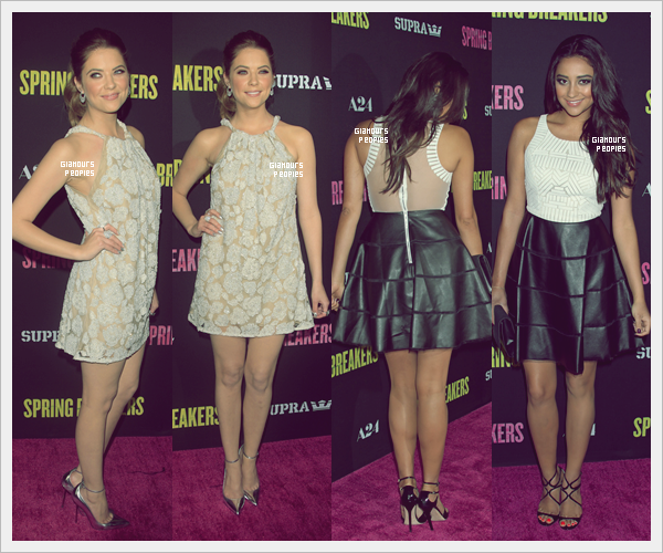 ᅠ 14 Mars 2013 : Ashley Benson & Shay Mitchell à l'avant première du film  Spring Breakers à Los Angeles ᅠ