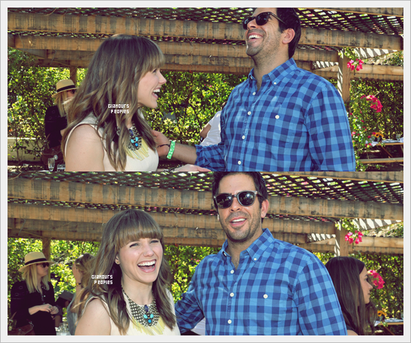 ᅠ 12 Avril 2013 : Sophia Bush au grand festival de musique Coachella avec   Dan Fredenburgh en Californie ᅠ