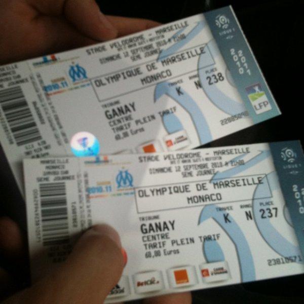 Marseille Monaco au vélodrome la classe même le rêve !!!