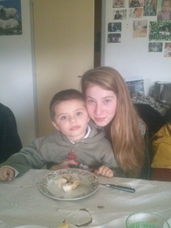mon fils et ma petite soeur kerina