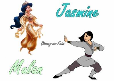 ∂ιѕηєу - єη - ƒєтє vous présente : >> le VS n°2. Plustôt Jasmine ou Mulan ?