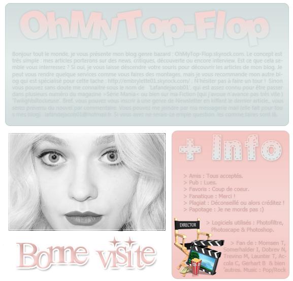 -- ______   ★ OhMyTop-Flop ; Ton nouveau blog qui parle un peu de tout. Actu, Sources, Critiques ... --