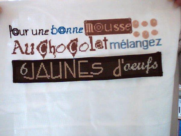 Mousse au chocolat  3ème partie