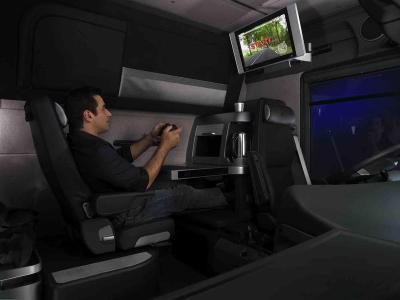 Renault magnum vega king of the road for Interieur camion renault t