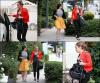 11/11/11 : Miley faisant du shopping chez Maxfield avec sa maquilleuse et son ami Vijat à Beverly Hills.