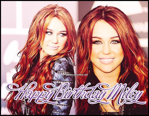 En ce 23 Novembre 2011, Miley fête ses 19 ans ! Alors, qu'est-ce qu'on dit à Miley ?!