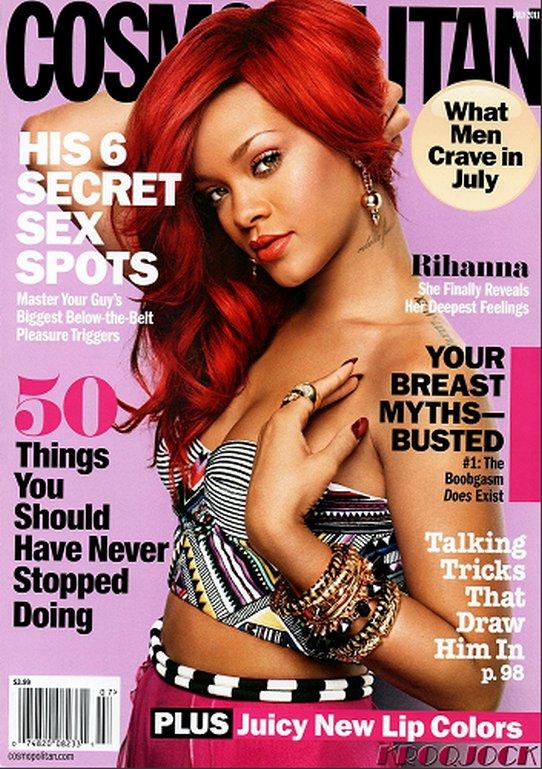Rihanna pose pour le magazine « Cosmopolitan »