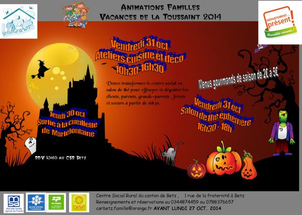 Animations familles sept-déc 2014