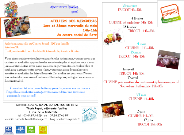 Animations familles 2015