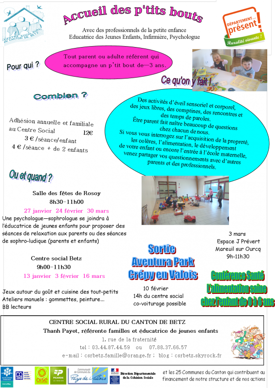 ANIMATIONS ET ACTIONS FAMILLES 2016