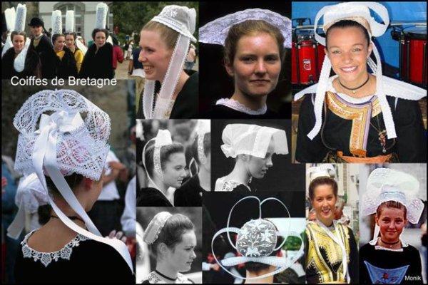 Différente coiffe bretonne