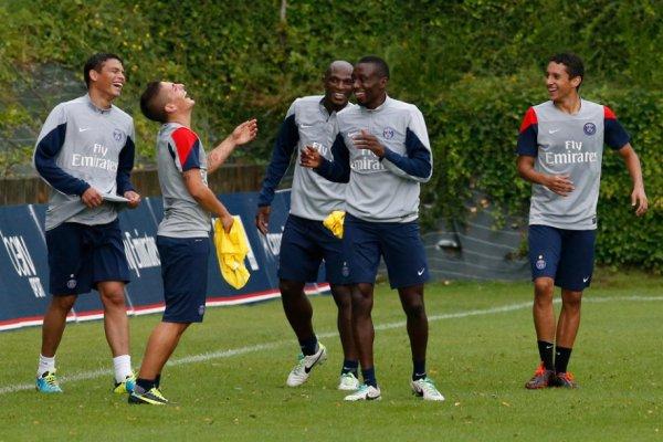 Le groupe du Paris Saint-Germain pour affronter Montpellier.