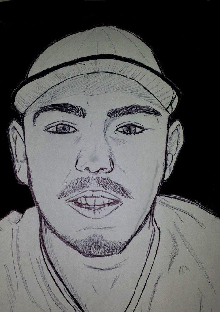 Portrait au stylo Bic (Noire:3)
