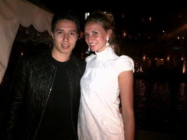 Samir NASRI et sa femme Tatiana GOLOVIN