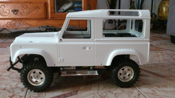 Carro de Land Rover Defender 90.