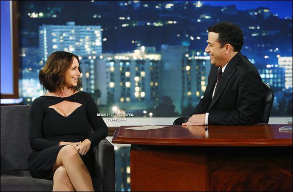 * 29/09/2014 : Jennifer était invitée sur le plateau « Jimmy Kimmel Live ! » qui se situe dans Los Angeles  Jennifer était présente pour faire la promo de sa nouvelle série pour Esprit Criminel. *