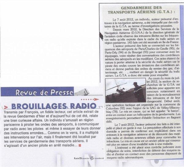 Un pirate (radioamateur) sur la bande aéronautique arrêté sur le dept 92