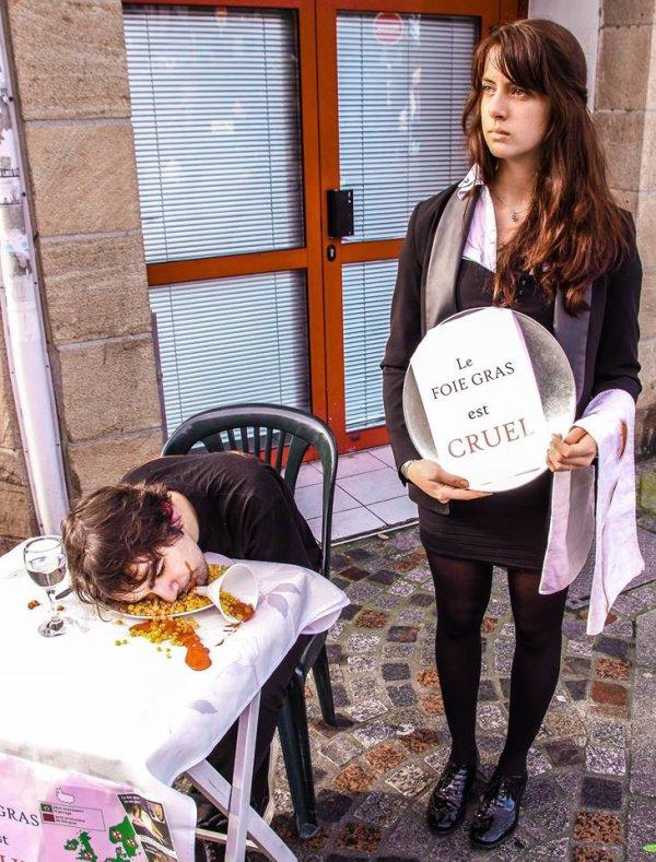 Stand foie gras, à Quimper (29)